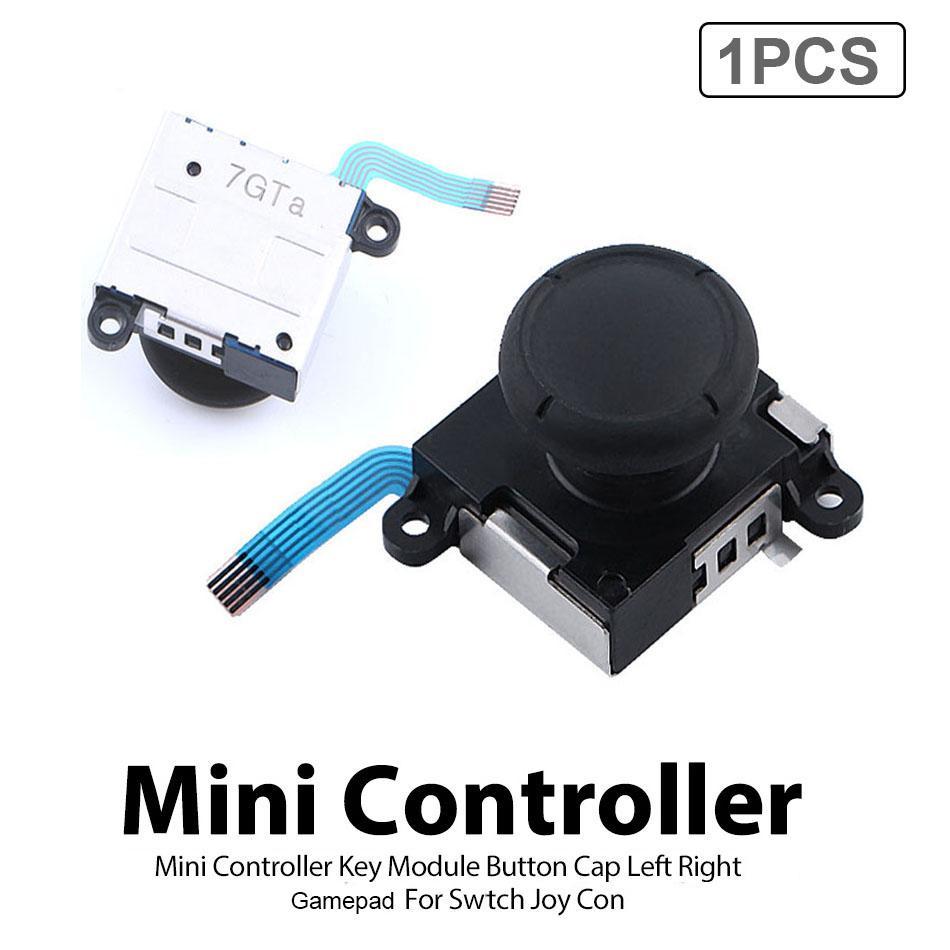 Mini Controlador Durável Gamepad Botão Cap Esquerda Gamepad Thumb Thumb Thumb Joystick Acessórios Fácil Instalar para Mudar Joy Con com Saco OPP