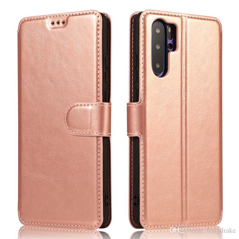 Lüks Deri Kılıf İçin Huawei P30 P20 Mate10 Mate20 Pro Lite Honor20 Ayaklı Cüzdan 360 Kapak Hawei P Akıllı Artı 2019 Telefon Coque