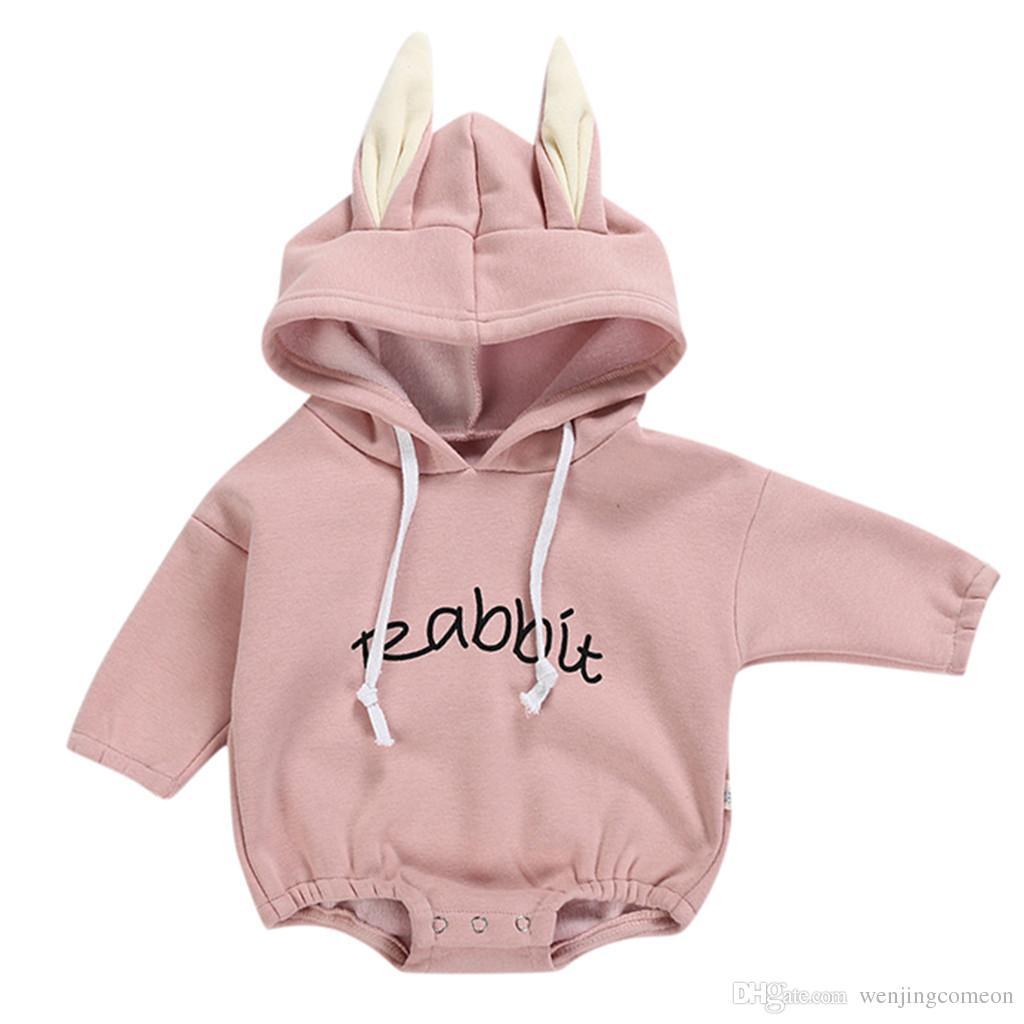 Kid clothes new Todder Kid Baby Girl Boy Rabbit Letter Sweatshirt Tops Romper Pullover Bodysuit vetement enfant fille