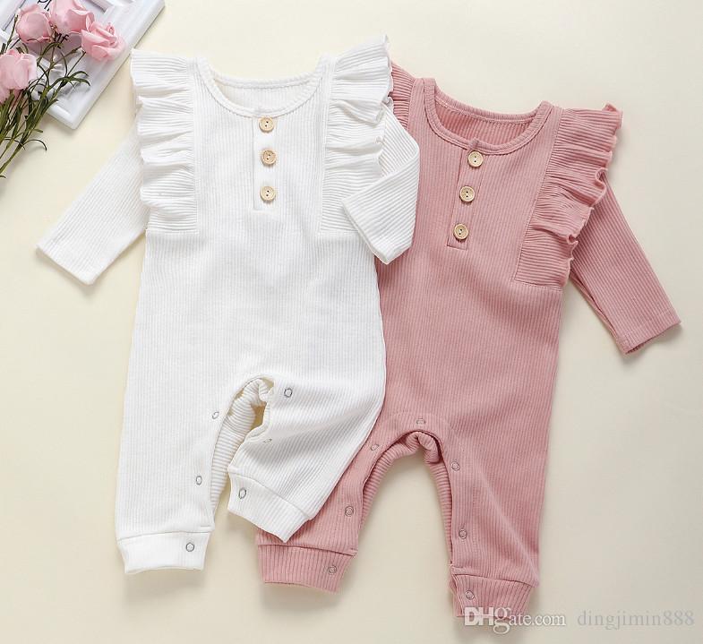 Neue Baby-Strampler Frühlings-Herbst-Baby-Kleidung neue Spielanzug-Baumwoll Neugeborenes Baby-Kind-Designer Cartoon Infant Jumpsuits Kleidung