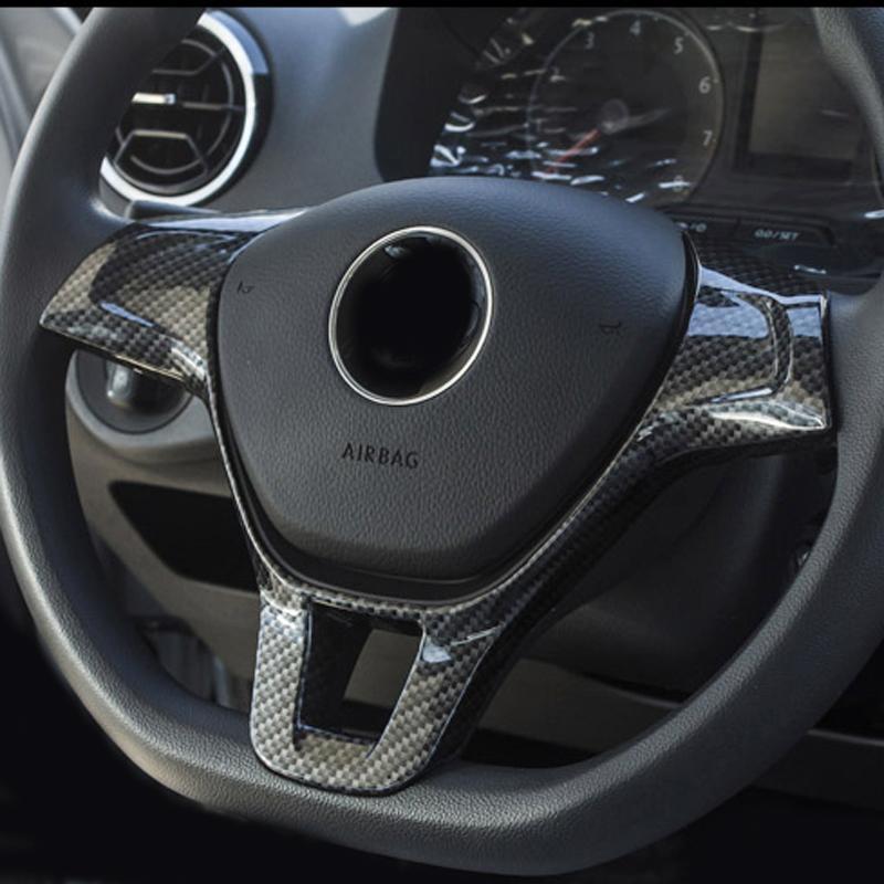 Carro acessórios modificados Steering Quadro guarnição Roda Etiqueta decorativa Capa Acessórios para Volkswagen Golf 7 MK7 POLO MK6 Touran