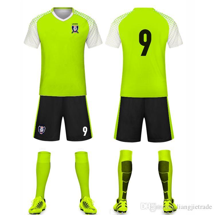 Profession Custom Quick Dry Breathable Football Soccer Jersey Wear Design Cheap High Quality Soccer Uniform Men