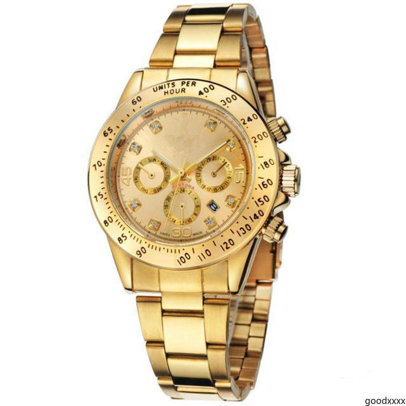 goodxxxx relogio masculino mens Quartz watches fashion Black Dial Calendar Folding Clasp fashion Quartz watches Wholesale luxury watch