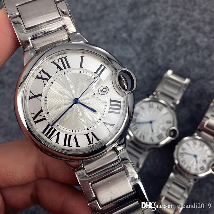 2021 классические часы моды женские / мужские часы с датой роскошные наручные часы из нержавеющей полосы роскоши любуящие любовные часы высококачественные складные застежки