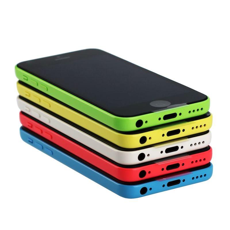 Original Refurbished Unlocked Apple iPhone 5C Cell phones 8GB 16GB 32GB dual core WCDMA+WiFi+GPS 8MP Camera Smartphone US Version