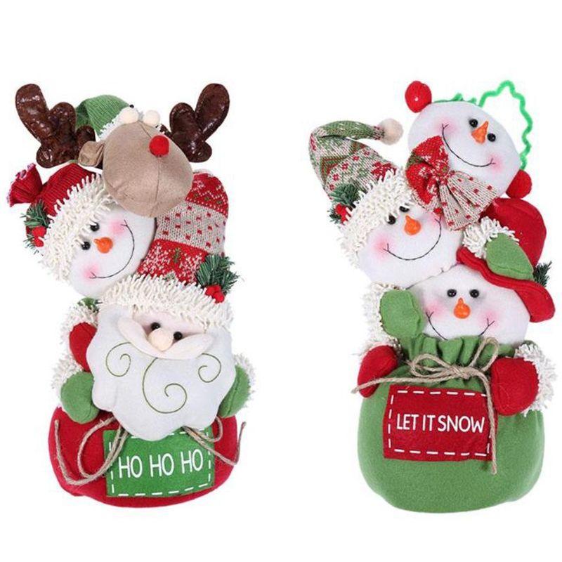 Weihnachten Puppen Bunte Weihnachtsmann Schneemann Weihnachten Spielzeug Kreative Kinder Weihnachtsgeschenke Weihnachtsschmuck