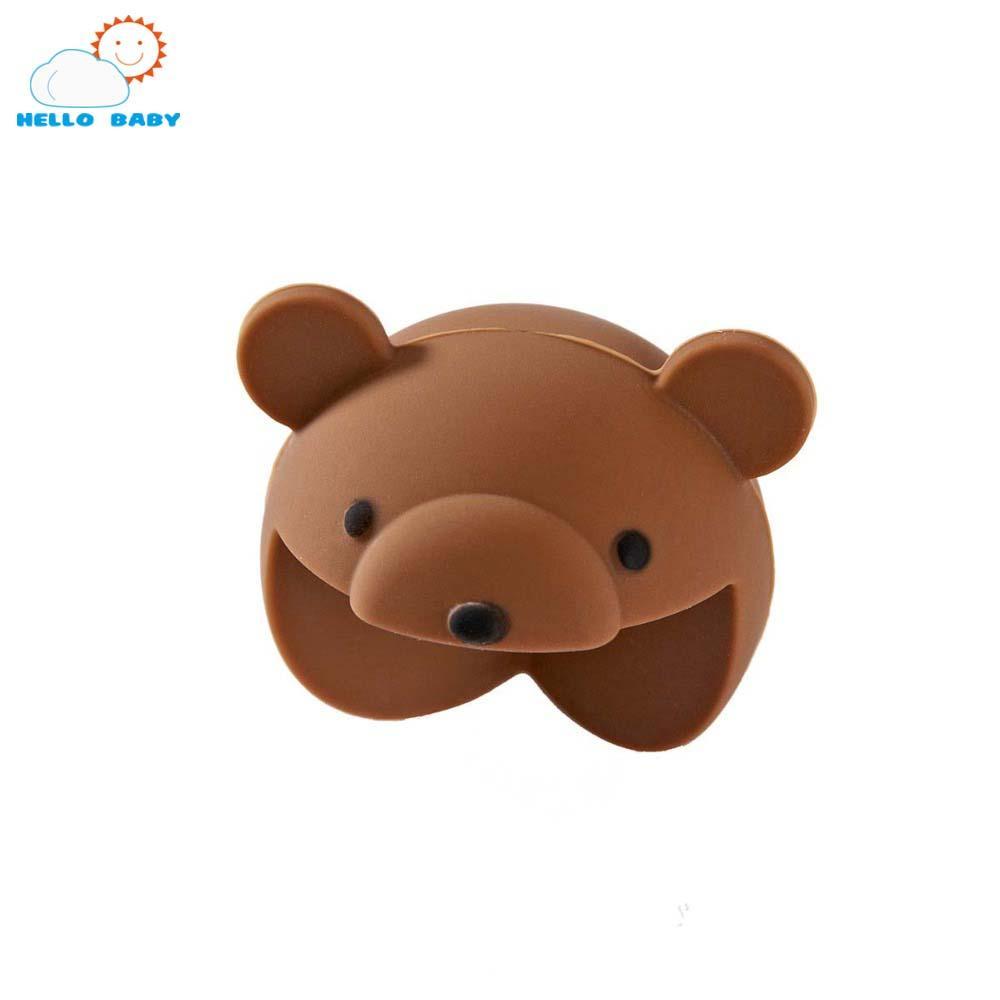 Moda simpatico cartone animato animale morbido bambino del silicone angolo sicuro protettore bambini bella costa di sicurezza i bambini di guardia angolo talble scrivania