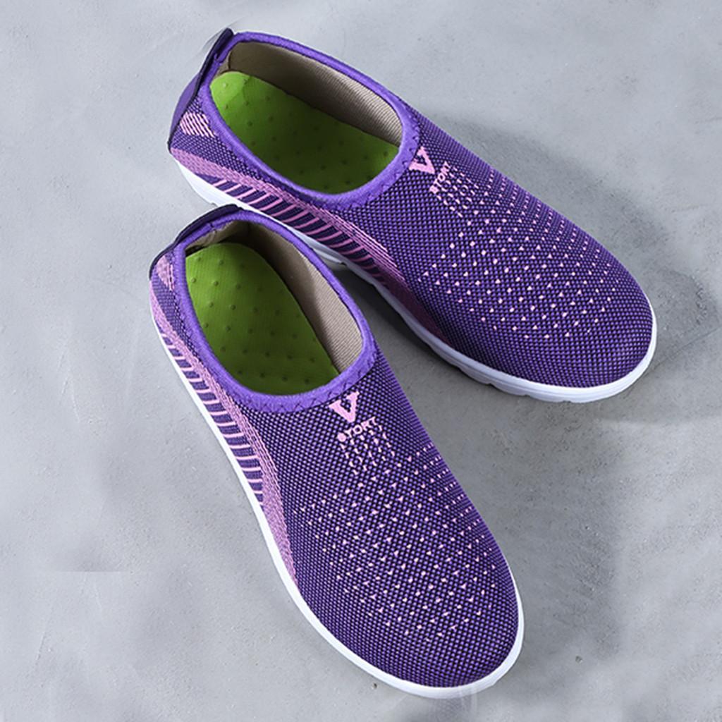 النساء مش شقة مع القطن عادية المشي أحذية الشريط حذاء بدون كعب لينة تنفس الراحة لربيع وصيف السيدات أحذية T9 #