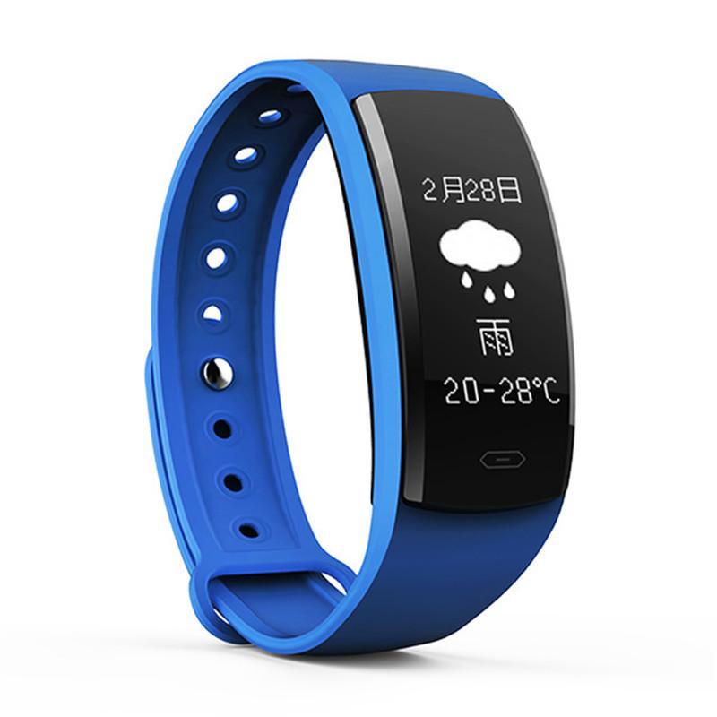 QS90 Smart Armband Blutdruck Pulsmesser Smart Uhr OLED Bildschirm IP67 Wasserdichte Fitness Tracker Armbanduhr Für iPhone Android