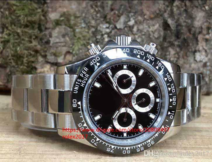 4 стилей Мужская роскошная вершина фабрики Качественные часы 40 мм 116520 116509 116500 116500LN Автоматические механические мужские наручные часы без хронографа