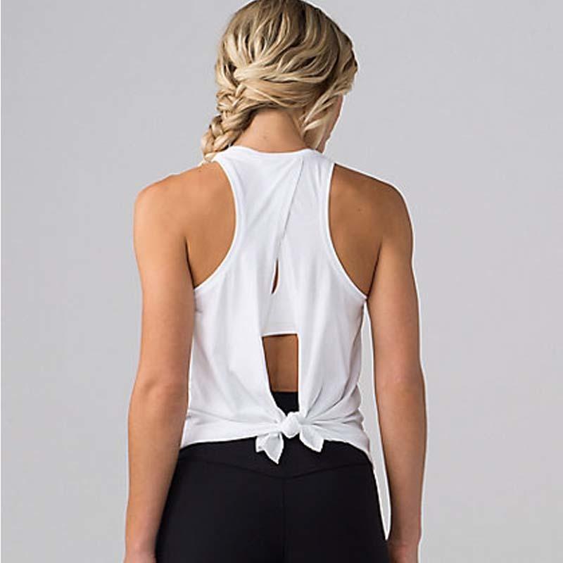 Frauen Yoga-Tanktops Quick-dry Übung Frauen-Trainings-Gym Kleidung Sport-T-Shirts Fitness Top-Frauen-Hemd Sport