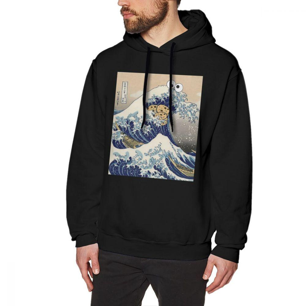 Wave Line Pullover Hooded Sweatshirts for Boys Mens Funny Cool Outwear