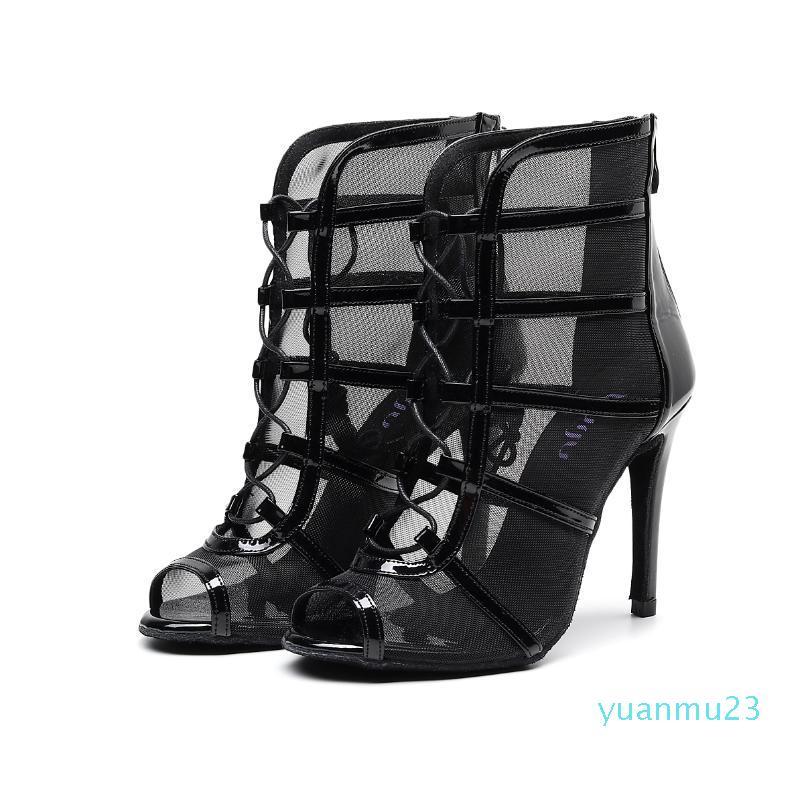 حار بيع، تخفيضات أحذية الصلصا جاز قاعة الرقص اللاتينية الرقص على النساء السيدات رقصات كعب اسود القصاصات شبكة أحذية