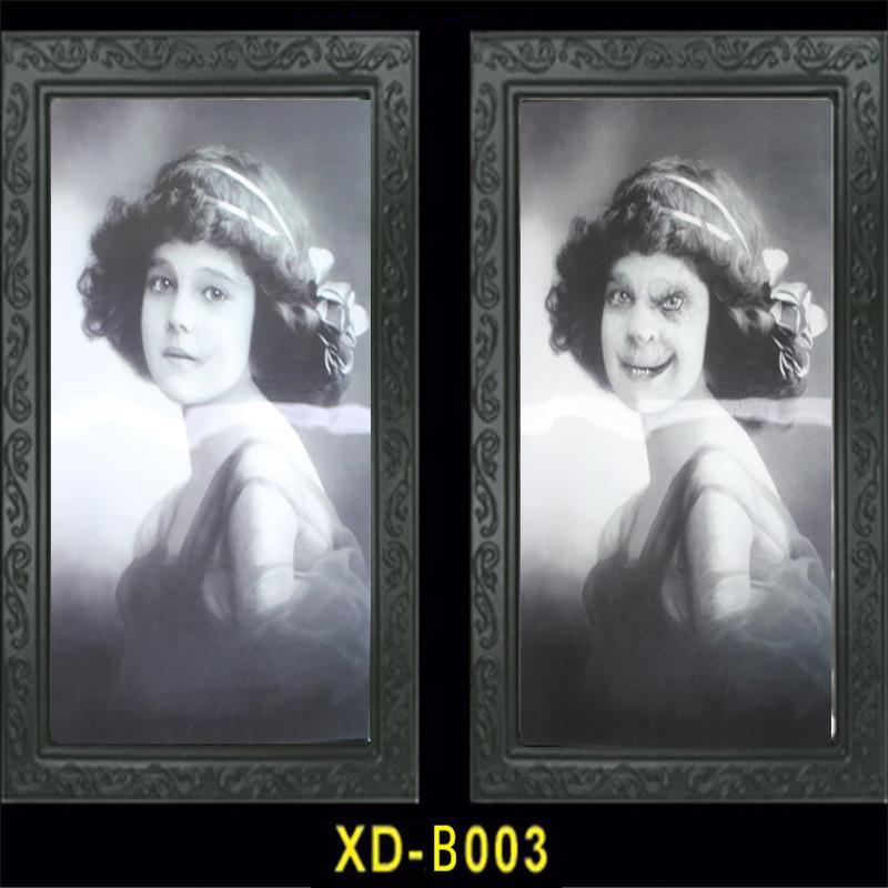 الرعب 3D الشبح إطار الصورة ديكور الوجه المتغير إطار الصورة بار هالوين الطرف الديكور مخيف بيت مسكون الدعائم DBC VT0969