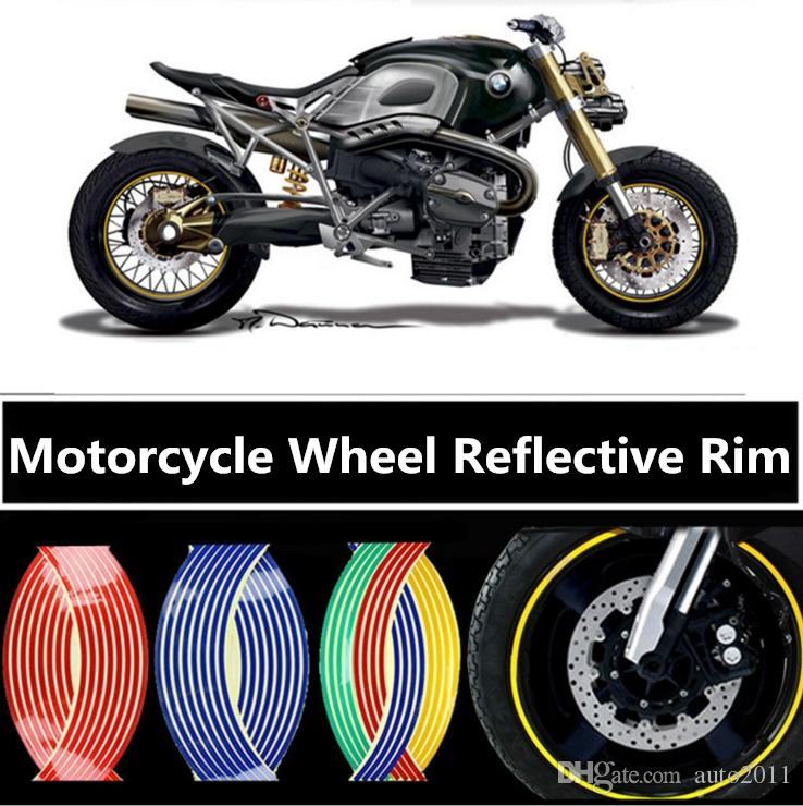 USA 16 Strips Rim Stripe Stickers Wheel Reflective Tape For Bike Motorcycle Car