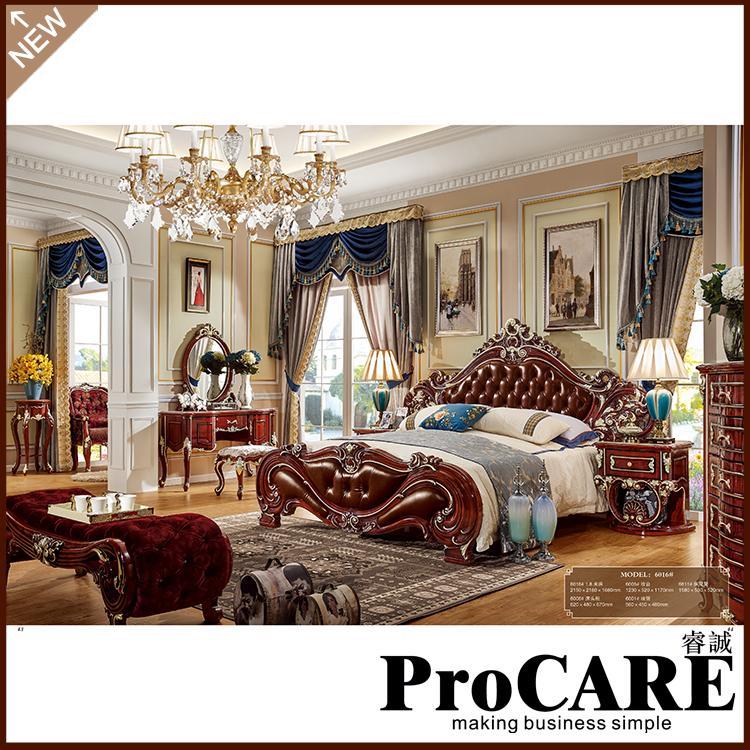 2020 American Bedroom Furniture Solid Wood Bedroom Set Crystal