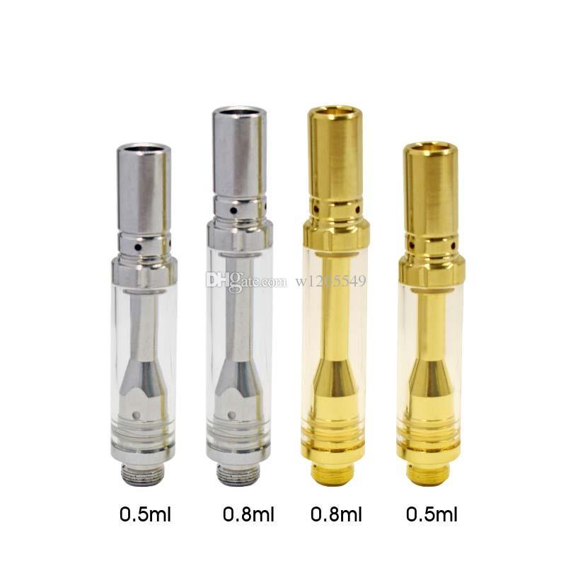 Cartucce di vetro Pyrex A1S vaporizzatore atomizzatore a bobina di ceramica penna vaporizzatore doppia bobina per 510 fili di spessore Fit Touch batteria Oils
