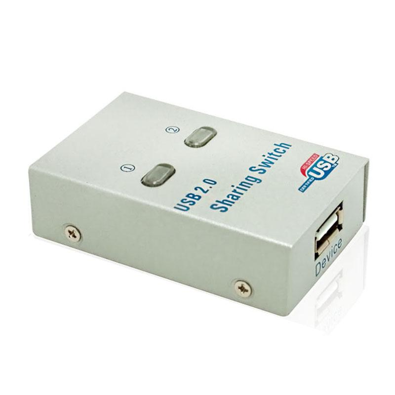 PC Computer USB 2.0 Auto / Manual Sharing Switch Hub 2 Port Adapter for Printer Scanner Plotter sharing adapter