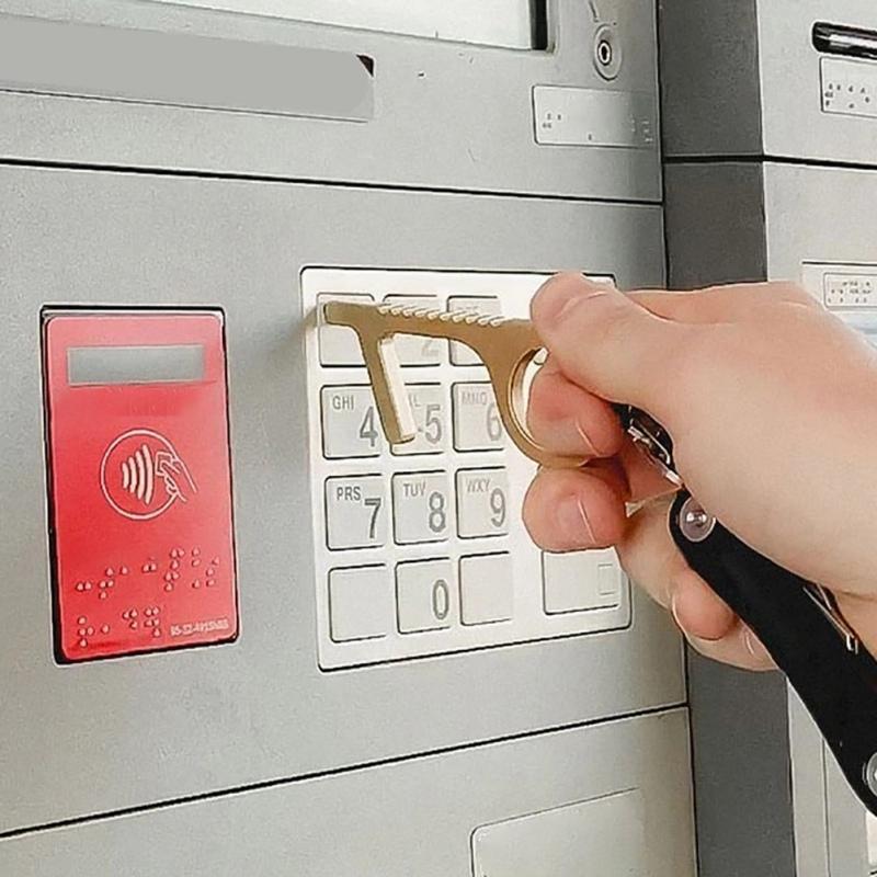 Apertura hogar reutilizable sin contacto de puerta herramienta portátil fácil de transportar Ascensor sin contacto de botón de la herramienta-Zero-Touch mango de la herramienta