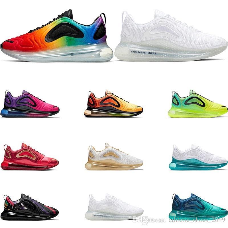 2019 sapatos de alta correndo para os homens Orgulho Universidade SUNRISE Volt triplo Northern Lights formadores preto brancas esportes mulheres tamanho da sapatilha 36-45