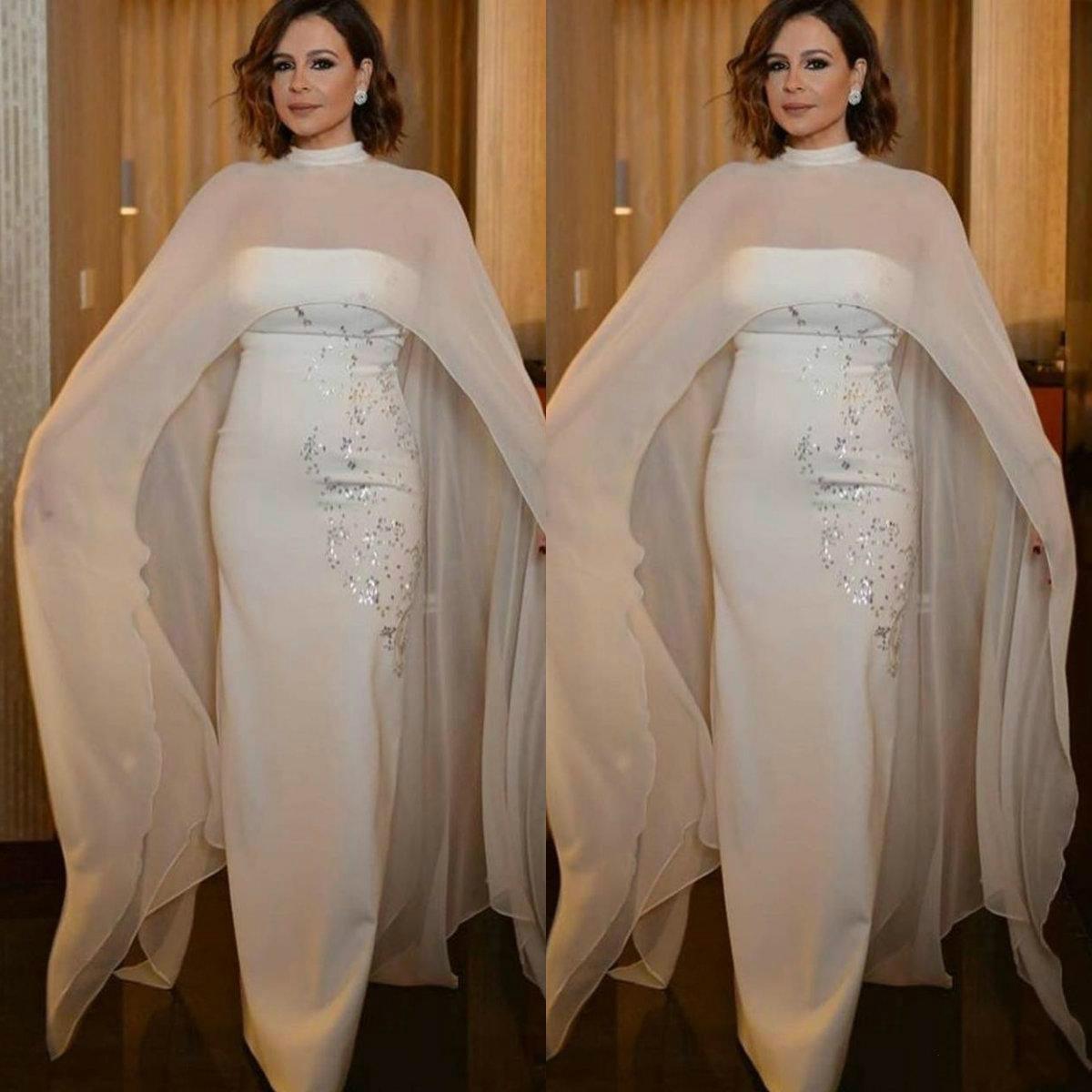 2020 Mãe elegante da noiva Vestidos Com alta Neck Enrole lantejoulas Convidado de Casamento vestidos até o chão vestidos longos de noite formal