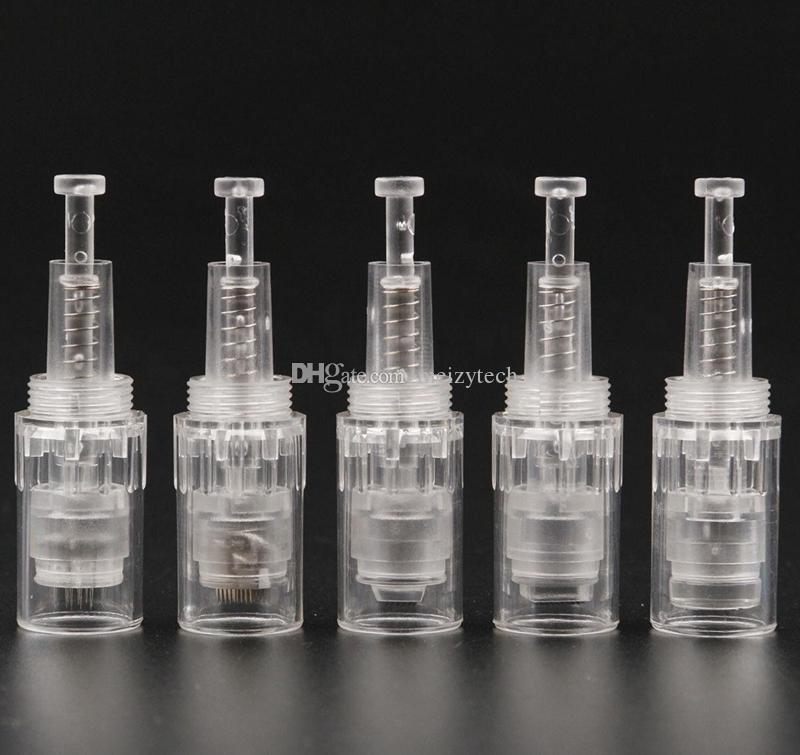 9/12/36/42 / Nano remplacement supérieur à vis ronde Microneedle cartouches pointes électriques Derma timbre beauté soins de la peau stylo dr anti acné