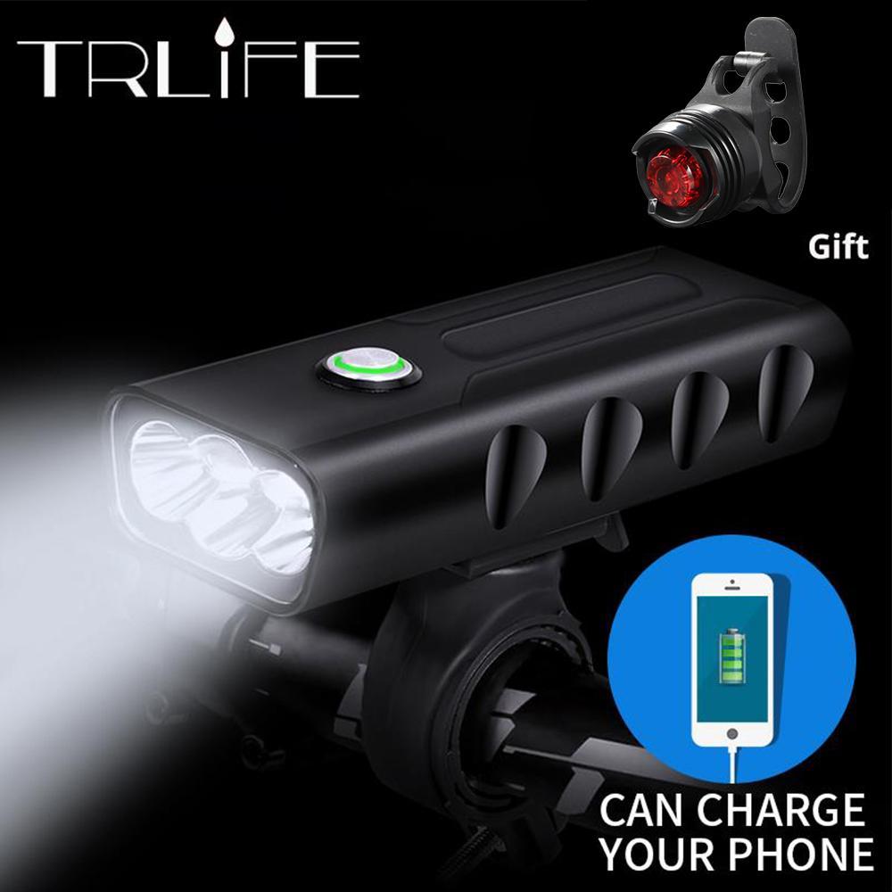 15000lum 2/3*L2 / T6 USB аккумуляторная встроенный 5200mah 3modes велосипед свет водонепроницаемый фары велосипед аксессуары с задним фонарем C19040901