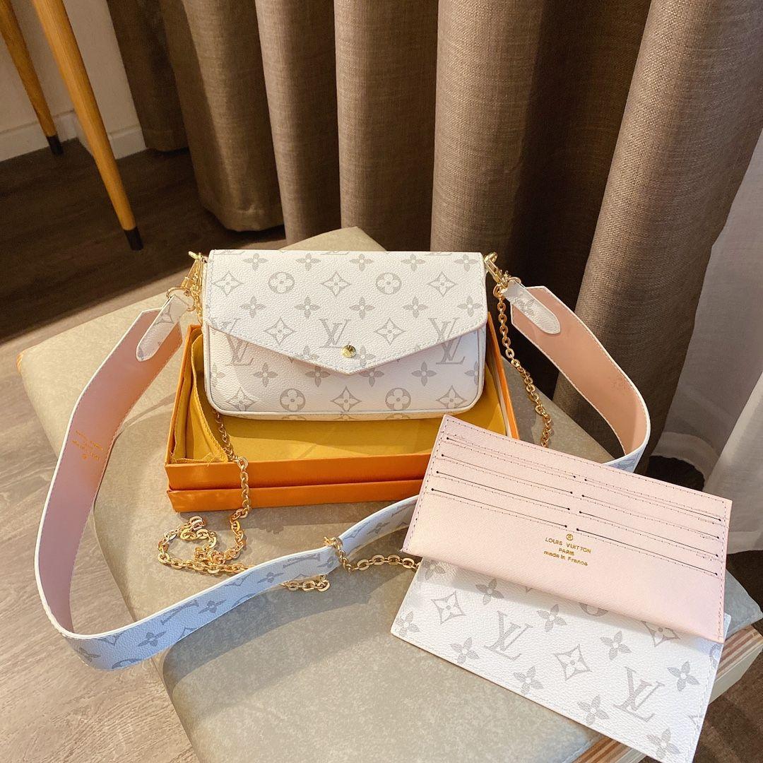 Trois pièces ensemble de style populaire sacs à main sacs en bandoulière dames de marque italienne sacs à main en cuir à la mode dames de AI026
