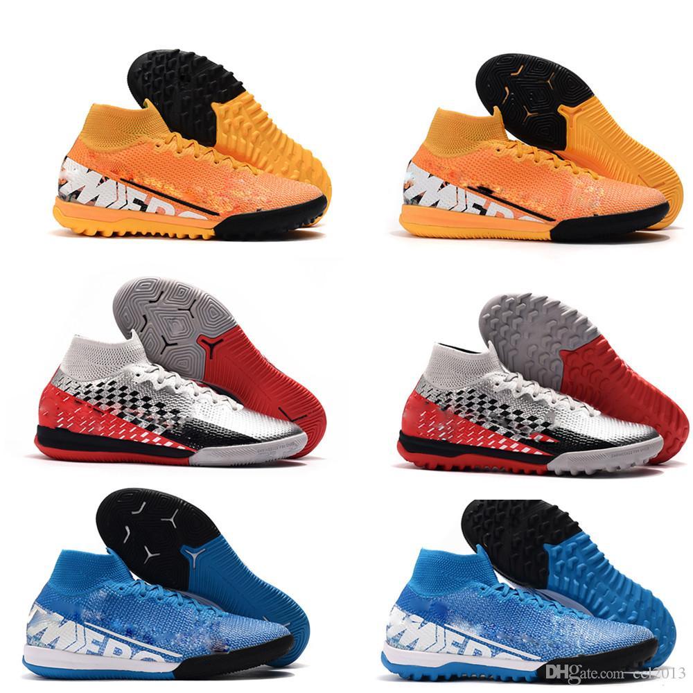 2020 رجال حار دائم أحذية كرة القدم نيمار كرة القدم المرابط في الأماكن المغلقة زئبقي ال superfly 7 VII 360 النخبة IC TF العشب أحذية كرة القدم ارتفاع us6.5-11