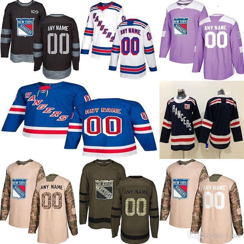 2020 Notícias New York Rangers Hóquei Jerseys Múltiplos Estilos Mens Personalizado Qualquer Nome Qualquer Número Jerseys de Hóquei