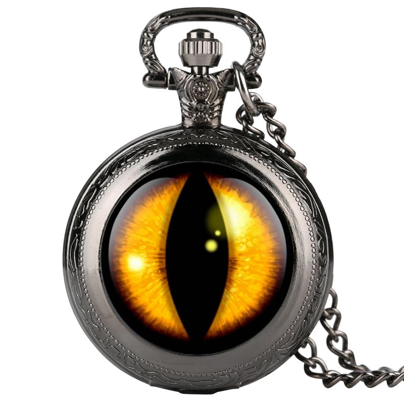 Dragon Eye Song of Ice and Fire The Gold Round Necklace Design Quartz Pocket Watch Chain Pendant Souvenir Gifts