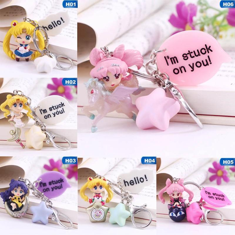 Sailor Moon Sailor Moon Figura llavero del animado muchacha del sexo colgantes