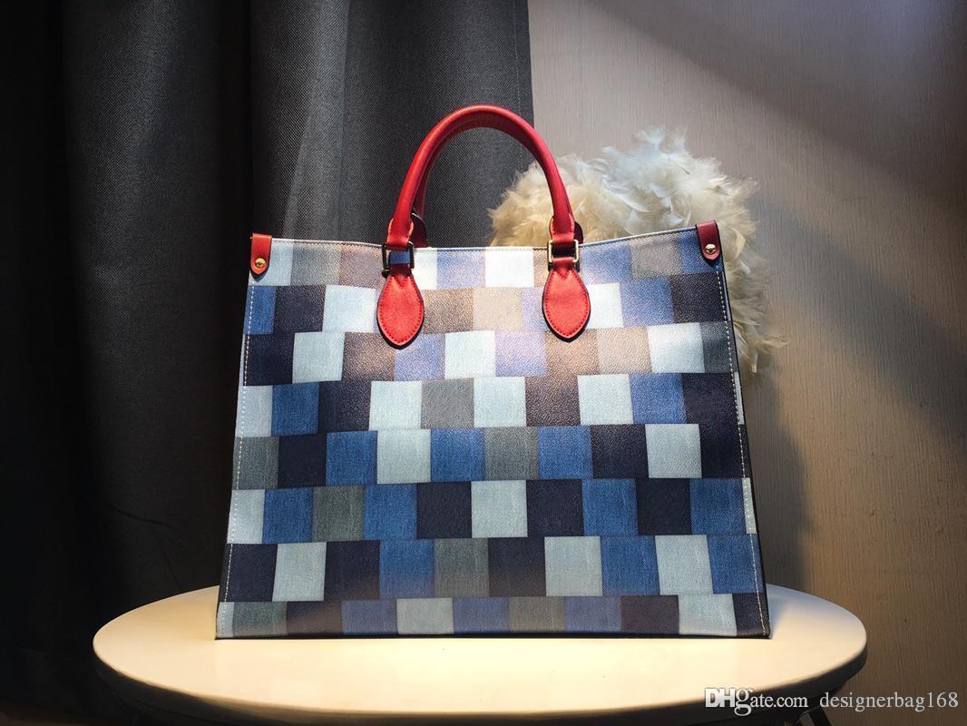 Designer Frauen Camouflage Handtaschen Art und Weise heiße neue große Taschen-Bügel-Schultertasche Top-Qualität L Brief echtes Leder Umhängetasche Tragetasche