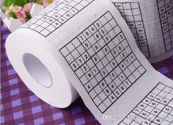 Sale Promotion Sudoku Toilet Paper Roll Funny Game Kill Time Novelty Gift Free Shipping