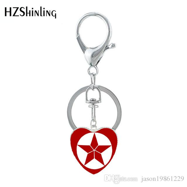 Free shipping jewelry Final Superhero Memory Classic Super Heros Heart Keychain Love You Three Thousands Times Keyholder