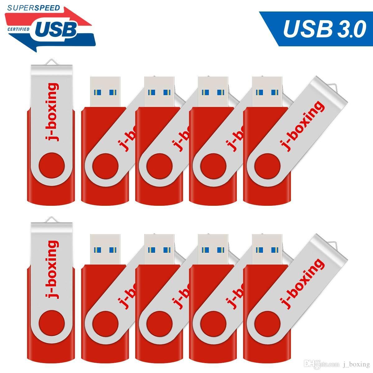 10X Red 16GB USB 3.0 флэш-накопители металла Вращающийся флэш-Pen Drive Thumb Memory Stick достаточно для хранения компьютеров Macbook Tablet Laptop