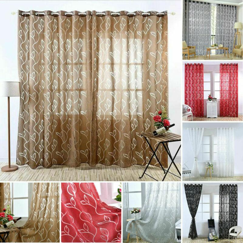 2019 Vines Leaves Modern Window Sheer Curtain Panels For Living Room The  Bedroom Blinds Window Treatments Draperies 100x200cm From Gl8888, $6.16 |  ...