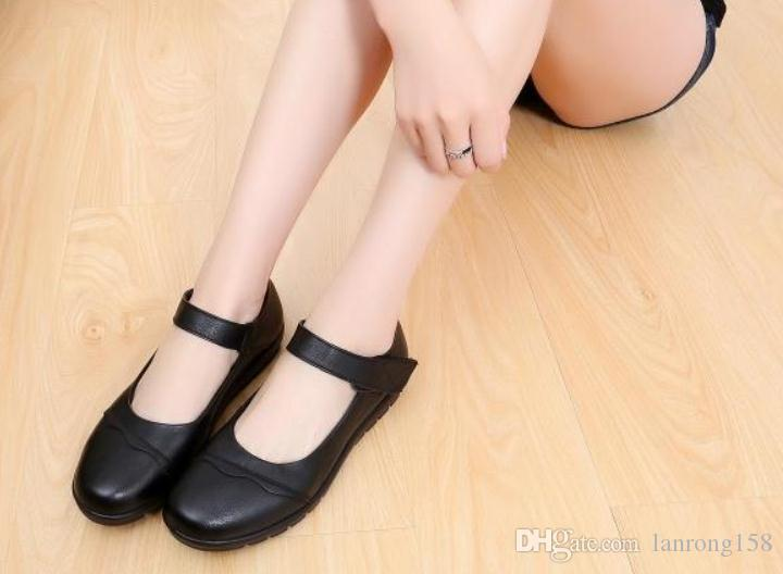 scarpe 2019 delle donne in primavera e in autunno con Nuovo appartamento stile fondo testa rotonda @ T13