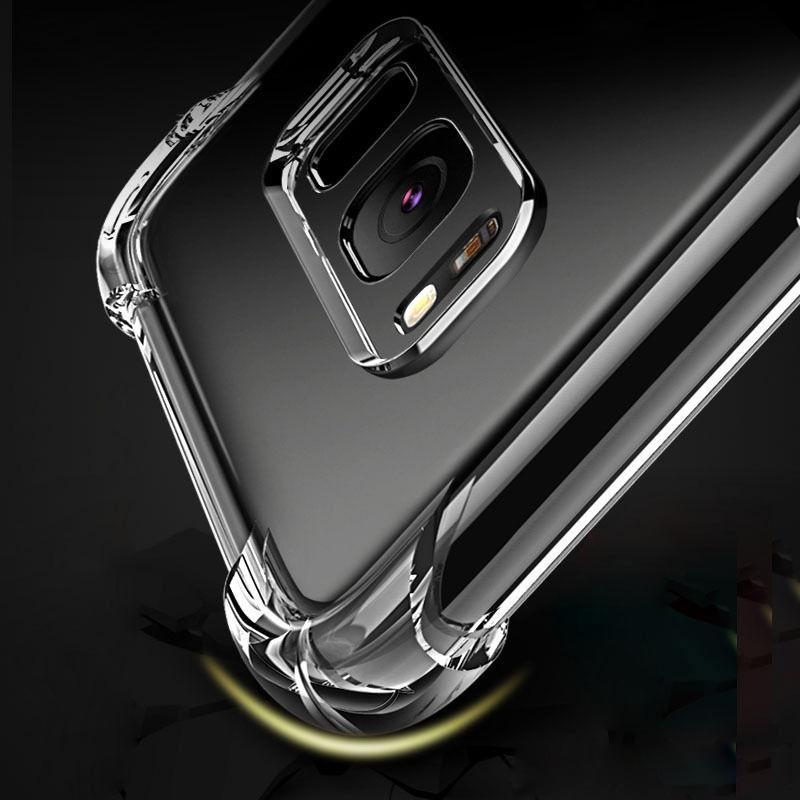 Nota para Samsung 10 Pro A30 A40 A50 A70 A80 A90 claro TPU Caso absorción de choque suave transparente de la contraportada