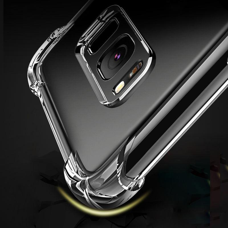 Per Samsung Note 10 Pro A30 A40 A50 A70 A80 A90 Clear Case Shock TPU assorbimento morbida trasparente copertura posteriore
