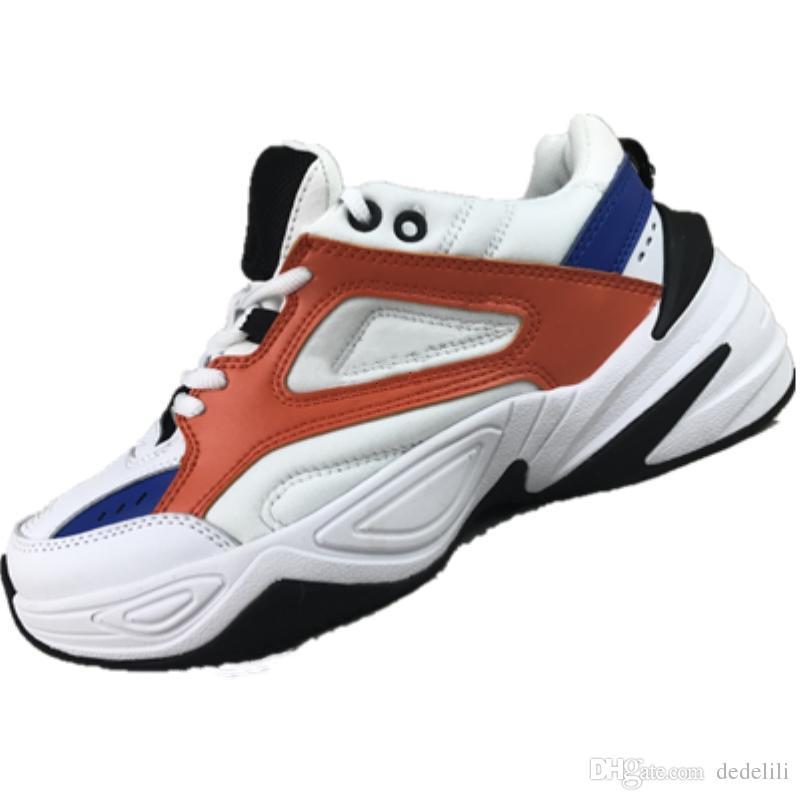Nike W M2K Tekno 2018 M2K Tekno Vovô Execução de Sapatos Para Homens Mulheres Sneakers Athletic Trainers Sapatos de Esportes Ao Ar Livre Profissional Frete Grátis