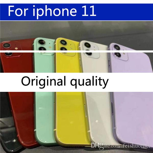 Для iPhone 11 корпус задняя крышка батареи задняя крышка двери + шасси средняя рама для iPhone 11 Pro крышка полный корпус чехол
