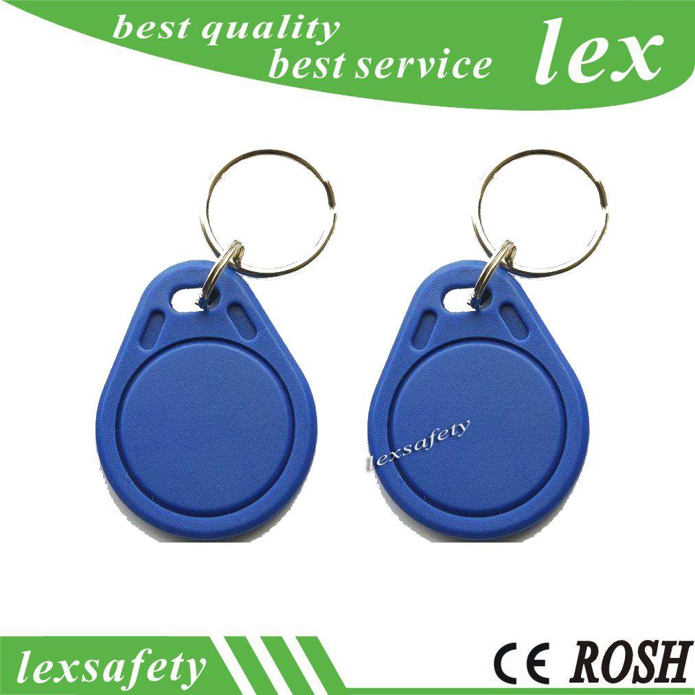 100pcs Printed Plastic Tags / card ISO11785 Tk4100 / EM4100 125kHz Custom Key Keychain Plastic Tags RFID Access Control Fobs