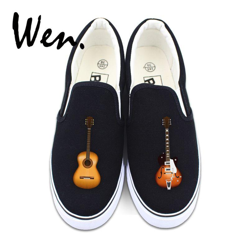 Ayakkabı Müzik Aletleri Gitar Özgün Tasarım Kadınlar Branda Sneakers Platformu Pedal plimsolls t14 üzerinde Wen Men Düşük En Tembel Kayma