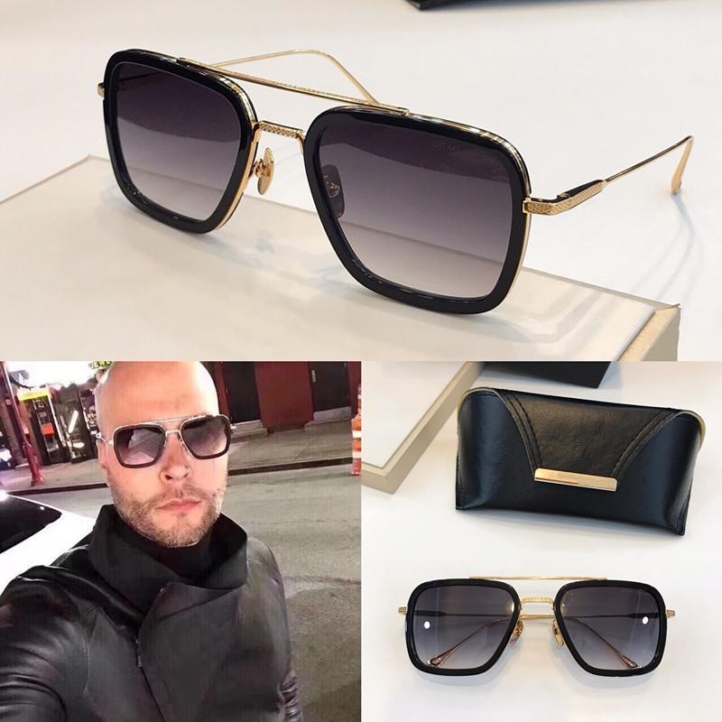 Nouveau mode 006 lunettes de soleil carré images pleines de style vintage populaire uv 400 lunettes de protection en plein air pour les hommes de qualité supérieure avec étui