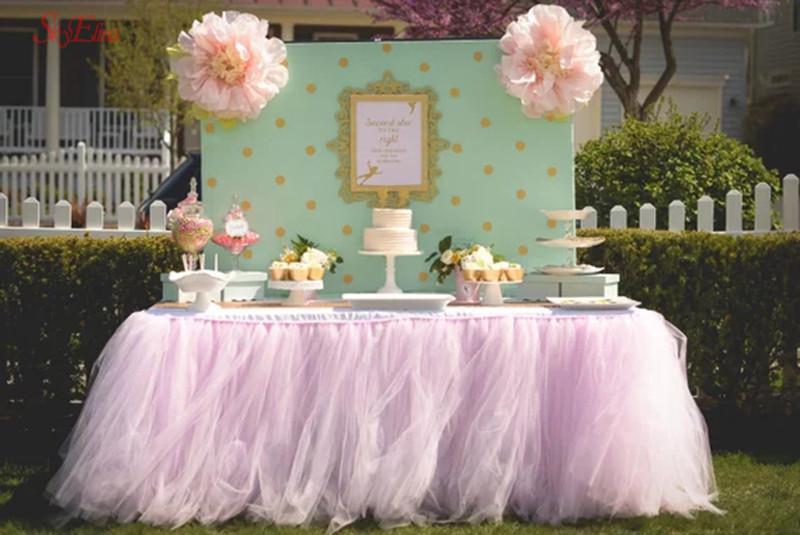 48CM * 5M حفل زفاف ديكور تول لفة اورجانزا شير الشاش DIY بنات التنورة هدية حزب الستائر الديكور توتو SH015