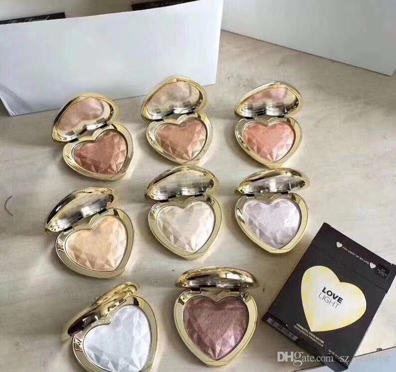 HOT célèbre marque Love Light Prismatic Illuminateur surligneur Maquillage Bronzer 8 couleurs Livraison gratuite Factory Direct Livraison gratuite N