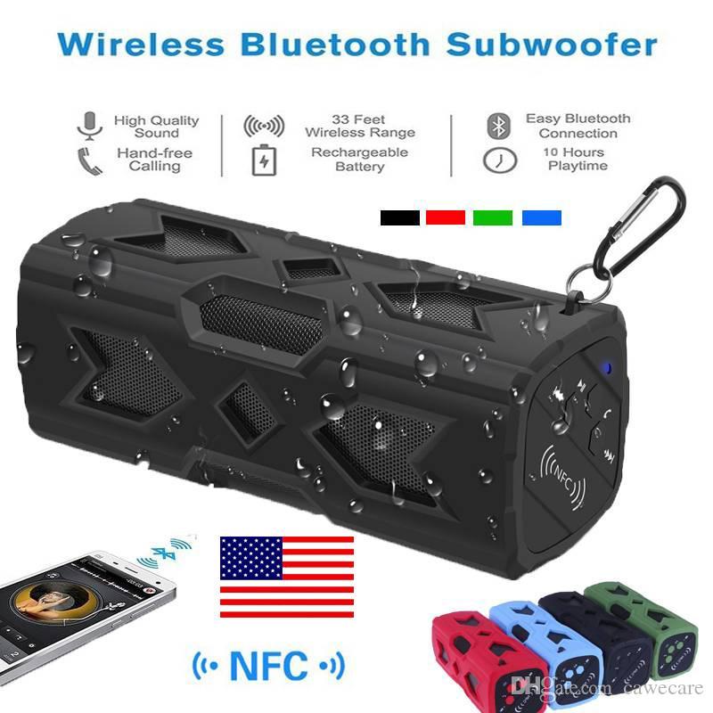 Bluetooth-Lautsprecher 4.0 Stereo Sound drahtloses wasserdichte Lautsprecher Unterstützung NFC USB C0203 US STOCK Schnelle Lieferung