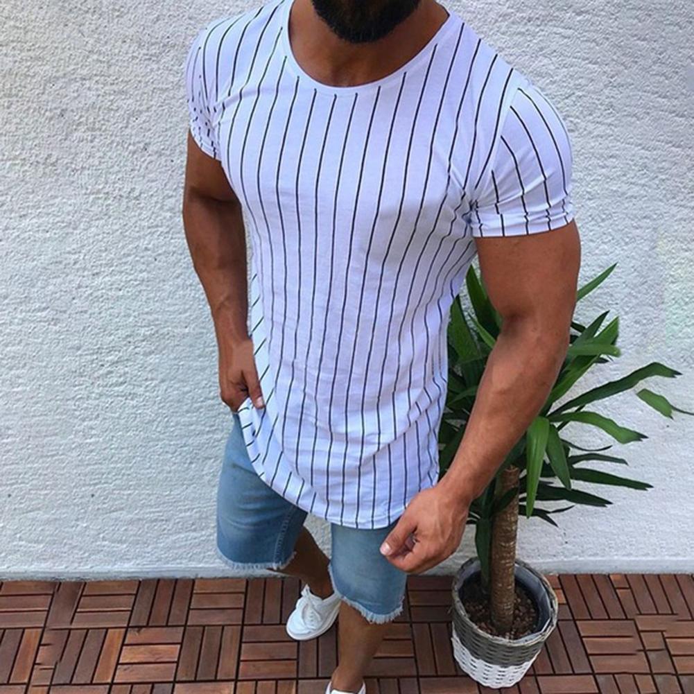 Mens Short Sleeve Muscle T Shirt Button Up Crew Neck Streetwear Tops Blouse Tops