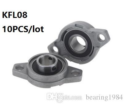WANGYOUCAO KFL08 FL08 Flange Bearing with Pillow Block 8mm Caliber Zinc Alloy Pillow Block Bearing for CNC for 3D Printer Lead Screw 3D Printing Accessories
